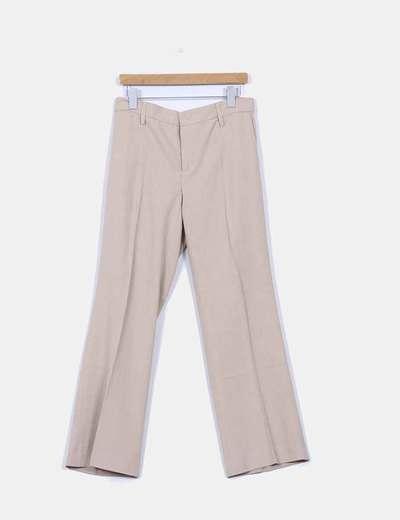 Traje pantalon y blazier beige