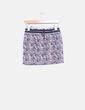 Mini falda floral con cordón Mango