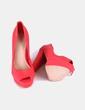 Zapatos peep toe rojos Bershka