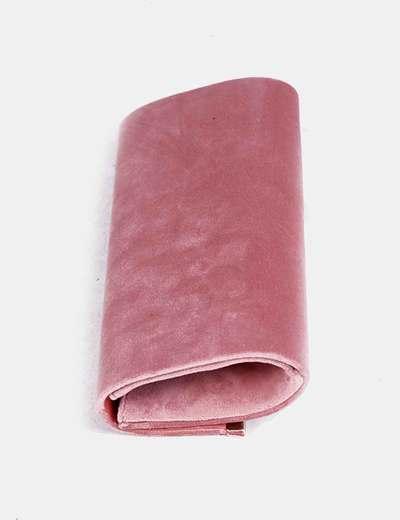 clásico diseños atractivos mejor online Bolso de mano rosa terciopelo