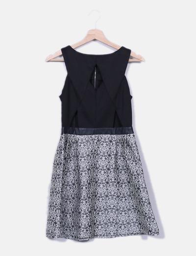 Robe jupe noire texturée Glamorous