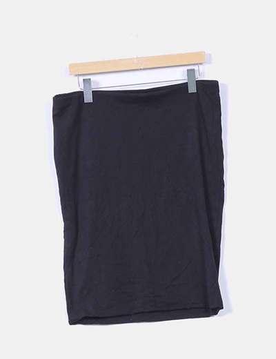 Falda midi basica negra