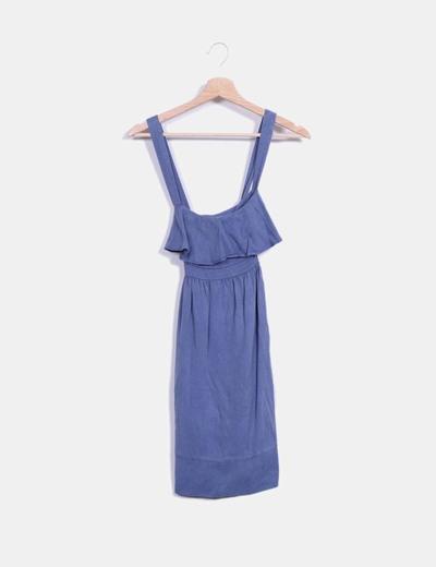 Vestido tirantes azul Zara