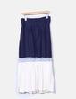 Falda bicolor plisada Trapile