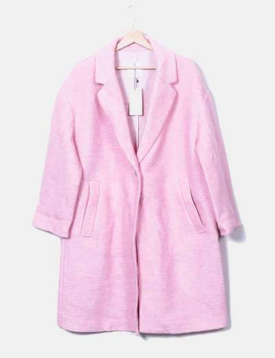 Mango Manteau rose long (réduction 78%) - Micolet c00739604c54