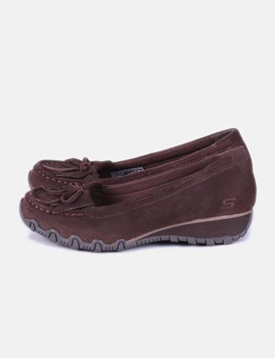 cd2bc56c5e3b4 Skechers Zapato marrón ante con cuña (descuento 78%) - Micolet