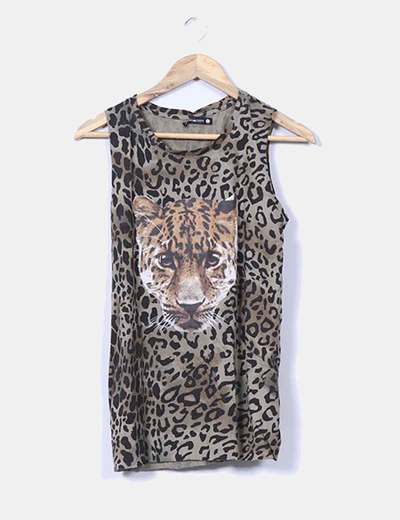 Top verde animal print estampado  Shana