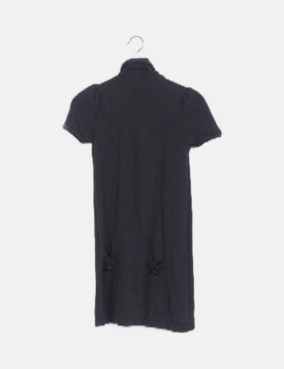 Vestido tricot gris marengo