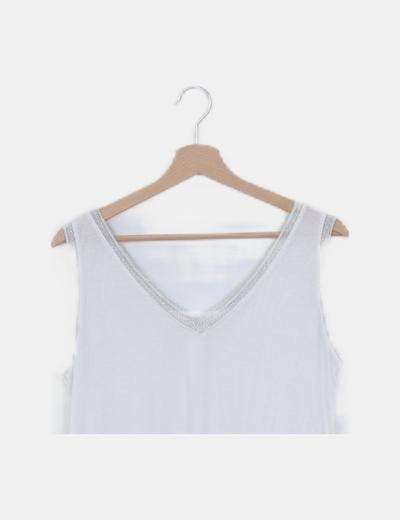 Camiseta blanca detalle glitter