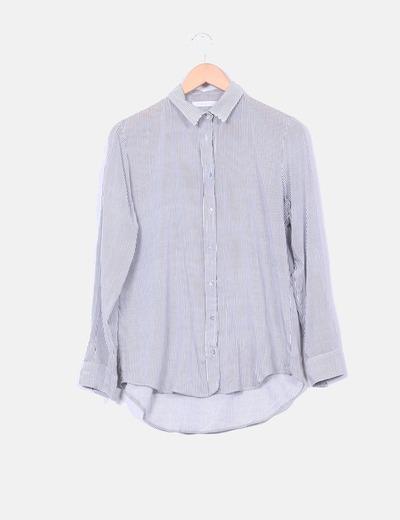 Camisa de rayas negras Shana