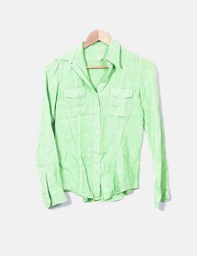 T-shirt vert en lin Hartford
