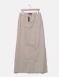 Maxi falda recta beige Mango