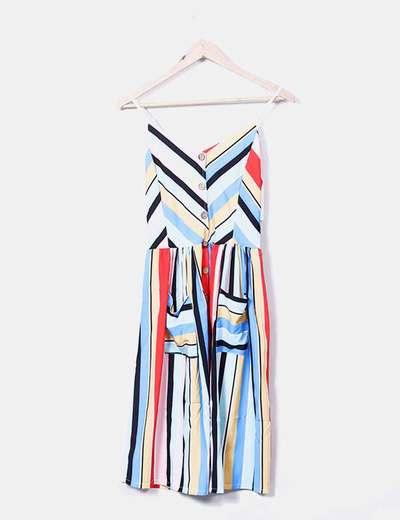 Vestido rayas multicolor Fashion