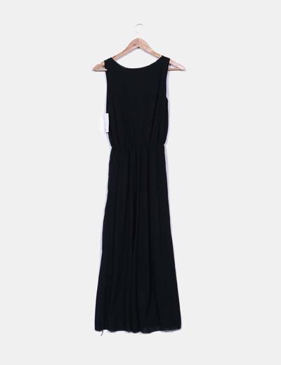 Vestido gasa negra de tirantes