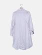 Vestido camisero blanco de rayas Zara