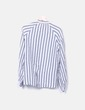 Gray and white striped shirt H&M