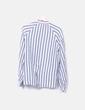 Camisa de rayas gris y blanca H&M