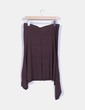 Falda midi marrón asimétrica Bershka