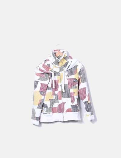 Sudadera multicolor con borrego interno Roxy