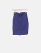 Falda tubo azul marino Zara
