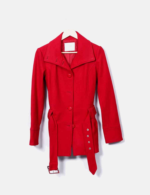 de Mujer paño Chaqueta y online Chaquetas Bershka Abrigos baratos de roja  6wwq8P0 ... 74cd2e68d37f