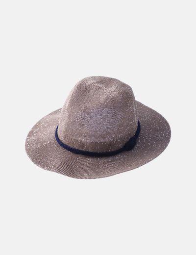 Sombrero paillettes plateadas