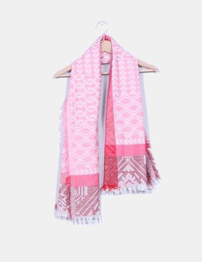 Fular rosa estampado NoName