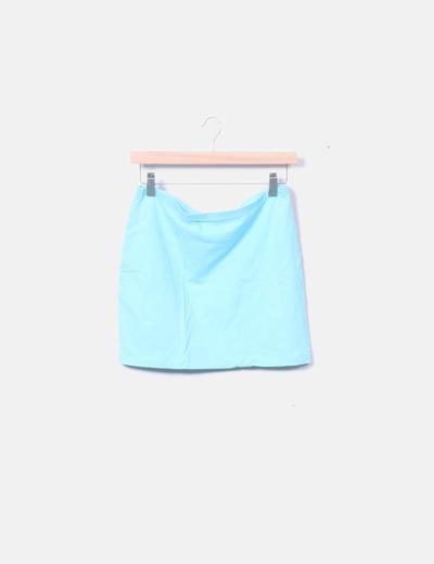 Falda tubo azul
