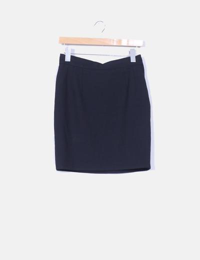 f14026550e7c5 Printemps Mini falda negra lisa (descuento 96%) - Micolet