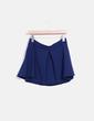 Falda azul marino texturizada Stradivarius