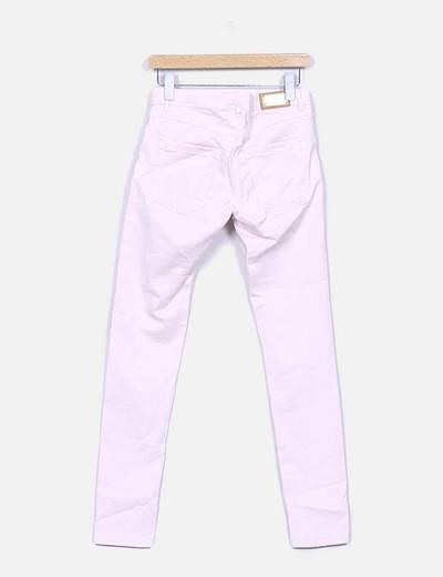Pantalon pitillo rosa palo