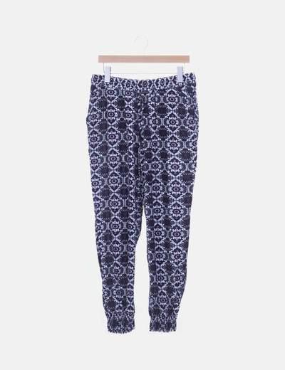 Pantalón baggy print