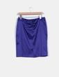 Falda midi azul klein satinada El Corte Inglés