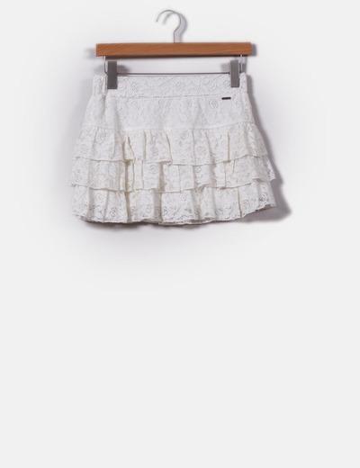 Minijupe blanche en dentelle Inside