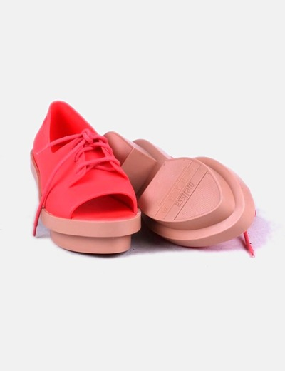 Zapatos blucher coral peet toes