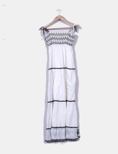 Vestido maxi blanco NoName