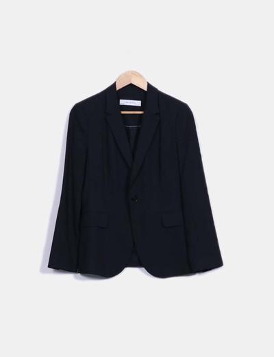 Blazer entallada negra Zara