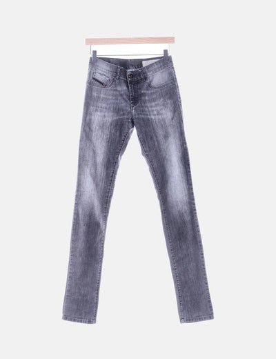 Pantalón gris efecto desgastado