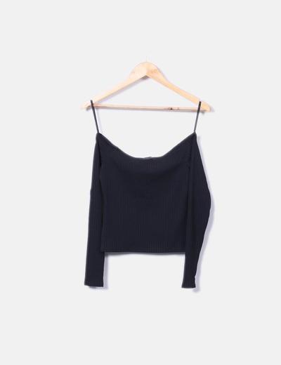 Camiseta negra texturizada Primark