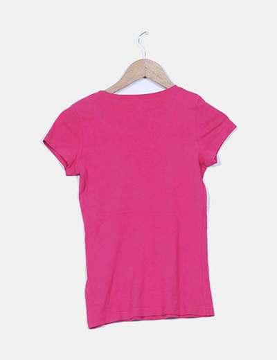 Camiseta basica fucsia