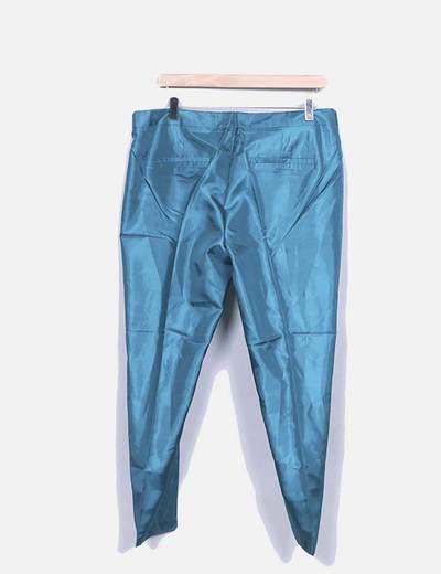 Pantalon verde satinado