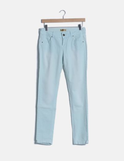 Jeans pitillo celeste