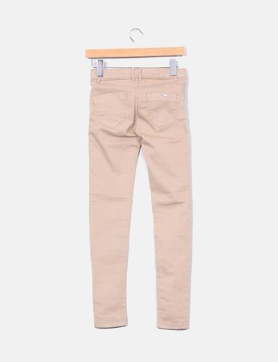 Pantalon skinny beige