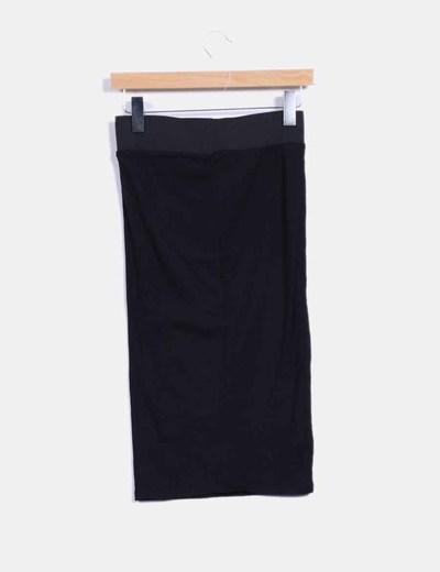 Maxi falda negra Zara