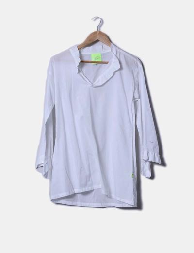 Blusón blanco con lentejuelas Chic