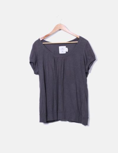 T-shirt marron à manches courtes H&M