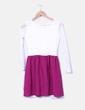 Vestido bicolor con encaje NoName