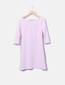 Vestido ceñido rosa palo Sense