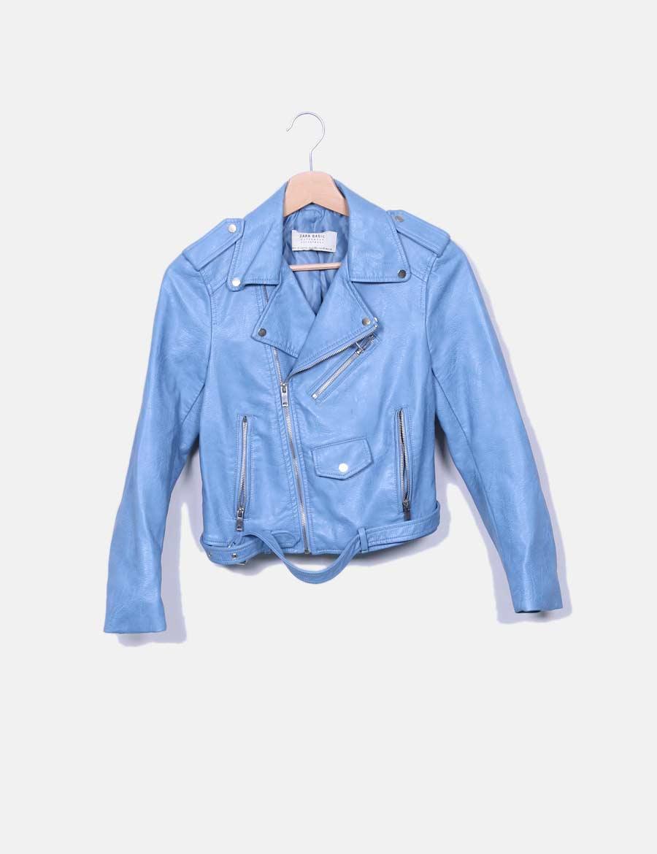 Online Azul Biker Mujer Chaqueta Abrigos Baratos Zara Chaquetas Y De SzwT7