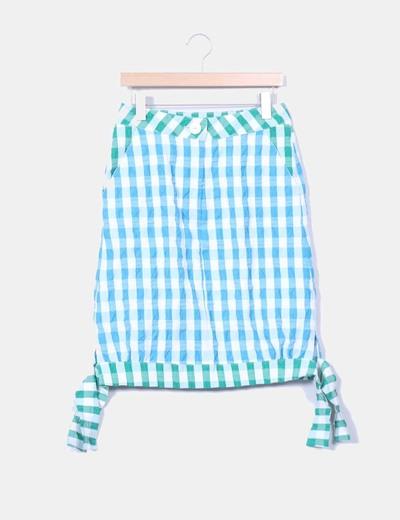 Falda midi de cuadros  La Mirona